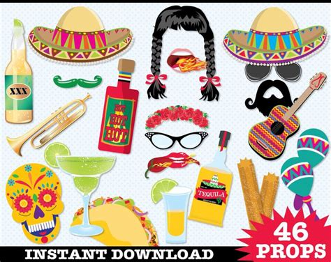 cinco de mayo printable photo booth props cinco de mayo photo booth props fiesta mexican holiday
