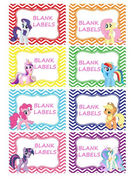 Label Name Buku Pony my pony labels 8 pack blank buffet by orangeorchiddigital for my pony 2015
