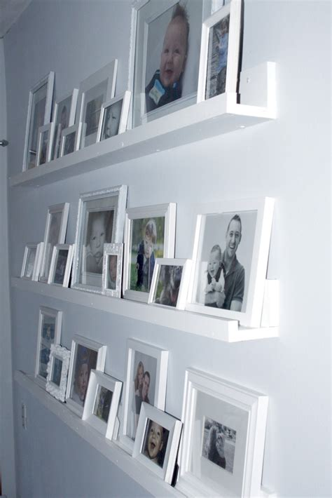 always chasing gallery wall shelves completed