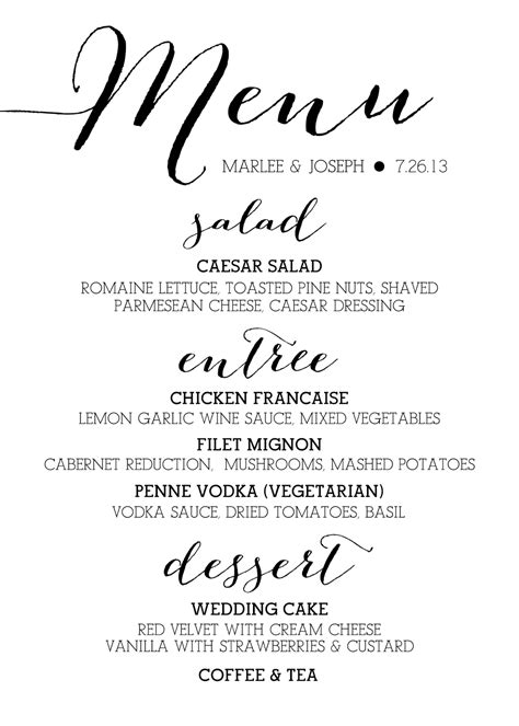 Wedding Menu Font Free by Bombshell Font Wedding Menu Search Wedding