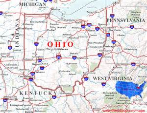 Ohio On A Map by Gallery For Gt Ohio Map