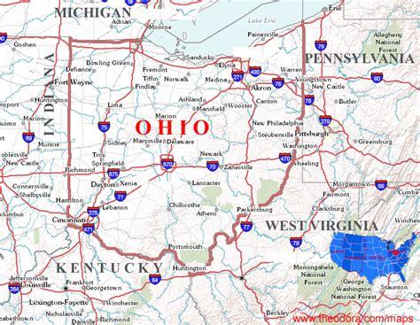 ohio state cus map ohio maps