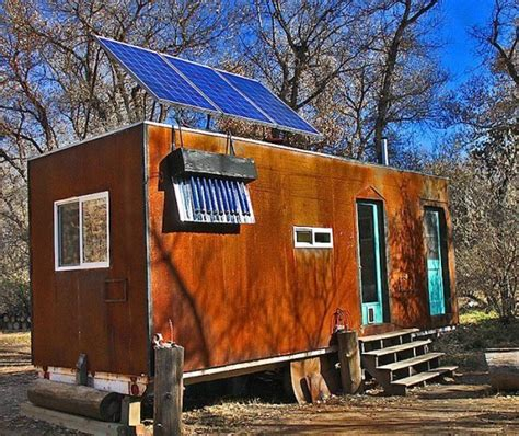 112 square feet off grid tiny house with folding porch roof man builds 200 sq ft solar off grid tiny house