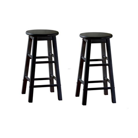 Cheap Bar Stools by Abott Black 24 Inch Counter Height Stools Set Of 2