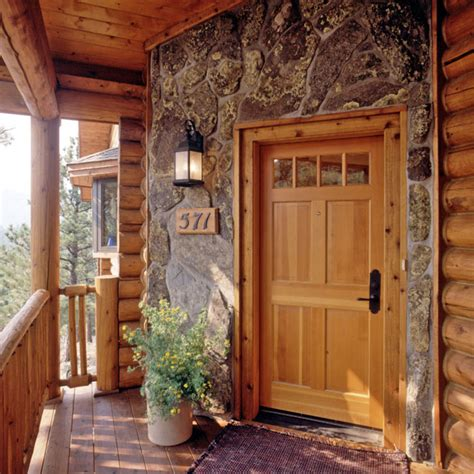 Log Home Front Doors Exterior Details For Your Log Home 171 Real Log Style