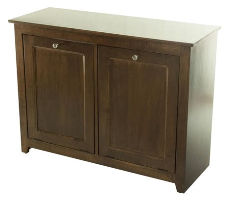 wood trash bin cabinet kitchen wood trash and recycling combo