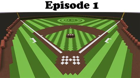 how to build a baseball field in your backyard how to make the best baseball field in minecraft ep 1 of 3
