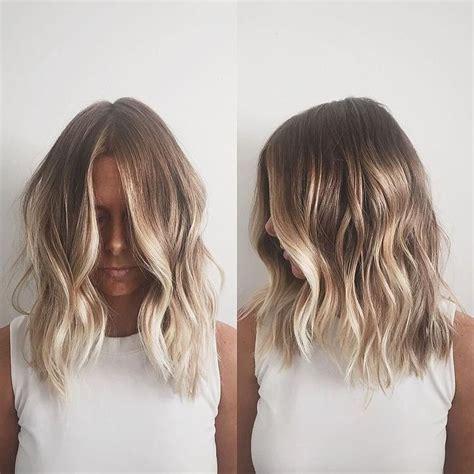 balayage on medium length hair 25 best shoulder length balayage ideas on pinterest