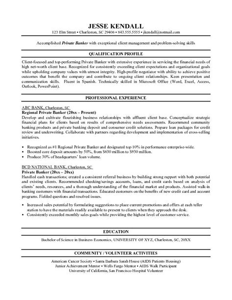 career objective for a banker personal banker resume objectives resume sle writing