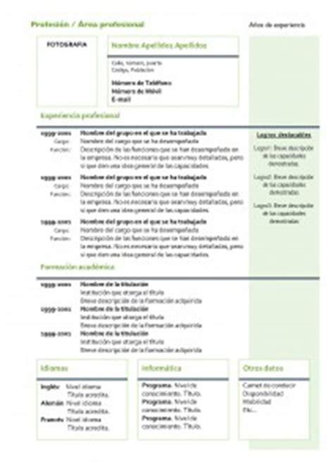 Modelo Curriculum España Descargar Modelos De Curr 237 Culum Modelo Cronol 243 Gico 4 Modelo Curriculum
