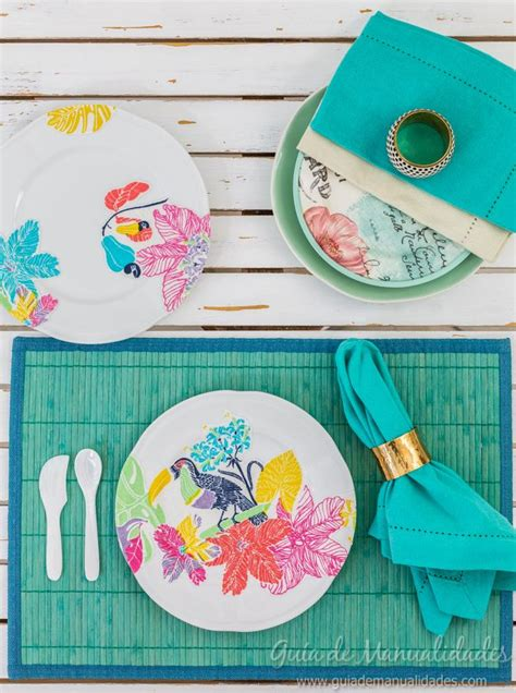 tutorial decoupage tela decoupage con tela para decorar platos de cer 225 mica