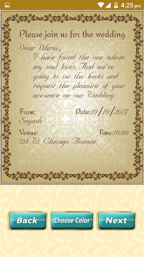 Wedding Card Design Software For Android by Wedding Invitation Cards Maker Marriage Card App Android