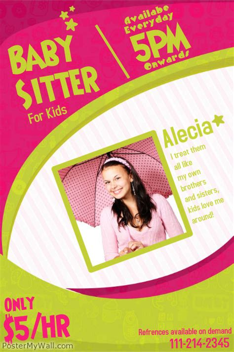 free babysitting flyer templates babysitting flyer templates postermywall