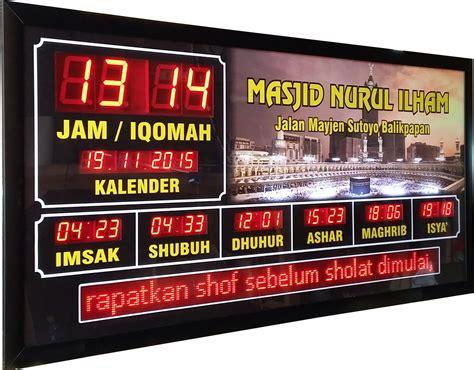 Jadwal Sholat Masjid Digital Timmer Iqomah jadwal sholat digital archives jam sholat digital sholato