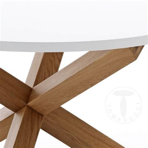 tavolo tondo bianco tavolo tondo design in legno con piano bianco e gambe