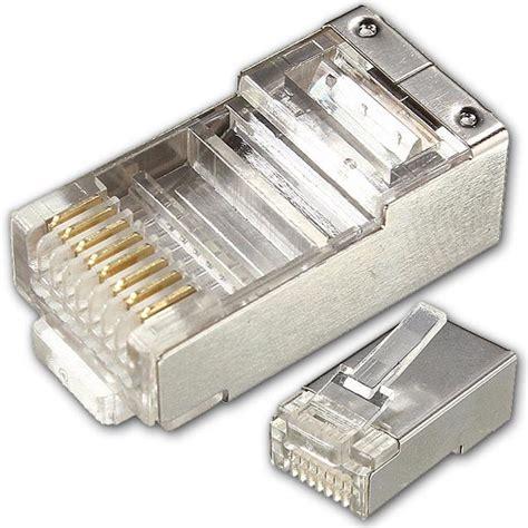 Conector Rj 45 Metal Eceranunit paquete de conector de rj45 metal 25 unidades compatible cat 5 y cat 6