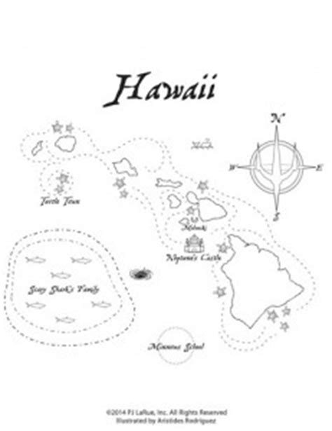 coloring page map of hawaii coloring sheets the mystic princesses
