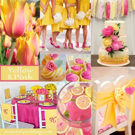 pink and yellow pink wedding color twelve perfect combinations