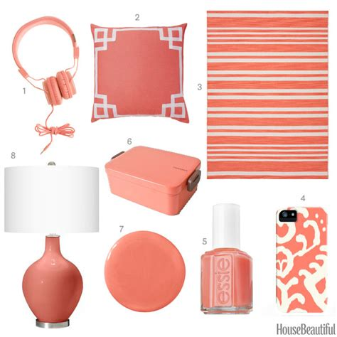 coral color home decor coral pink home accessories coral home decor