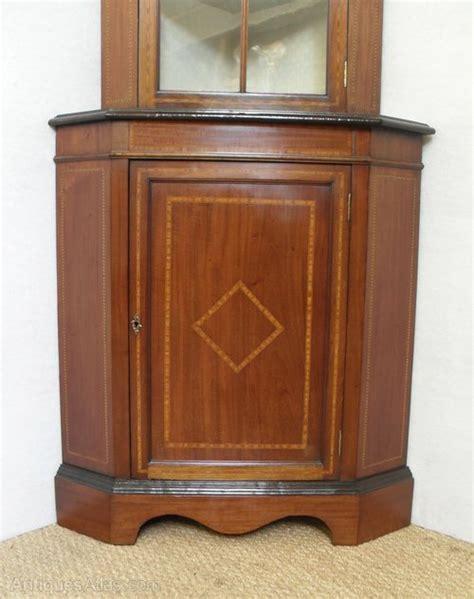 Cabinet Corner Ivory Mahogany Tp002 corner display cabinet antiques atlas