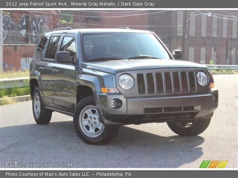 Jeep Patriot Grey Mineral Gray Metallic 2012 Jeep Patriot Sport 4x4