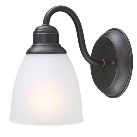 Lights For Bedrooms - hampton bay woodbridge collection 1 light oil rubbed bronze sconce oil rubbed bronze lights