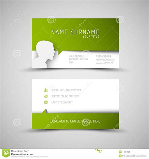 green card template modern simple green business card template with user