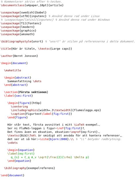 latex syntax tutorial latex tips bj 246 rn eriksson iei link 246 ping university