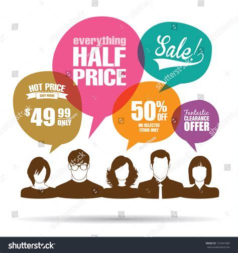 Sle Promotion Speech of with sale promotion speech bubbles stock