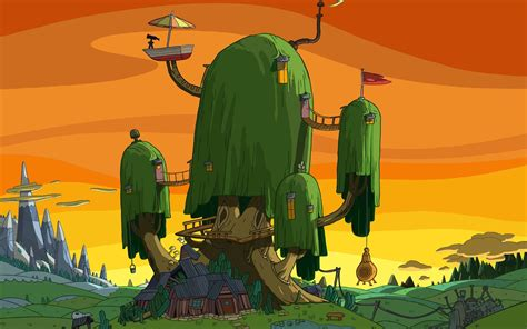 Adventure House by I Tree House Adventure Time Tree House Wallpapers