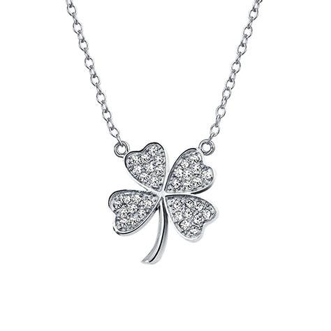 clover jewelry shamrock pendant necklace html autos weblog