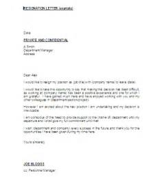 Letter Of Resignation Uk by The Resignation