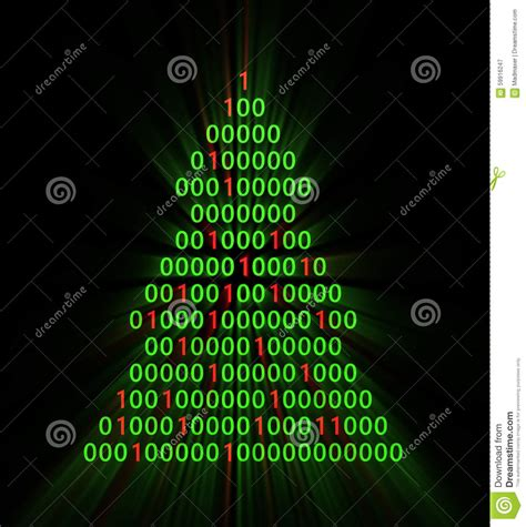 binary xmas tree stock illustration image of tree shine