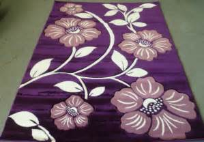 Purple Floral Rug floral purple area rug 5x7 carved lavender with ivory