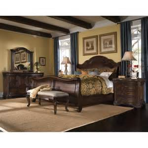 king size corondo 4 wood leather bedroom set by a r