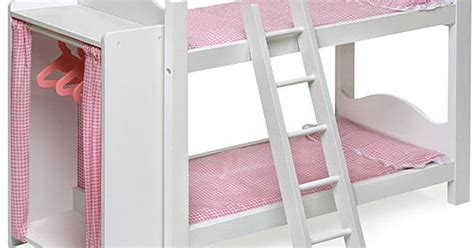 doll bunk beds with ladder and storage armoire badger basket doll bunk beds with armoire by badger basket