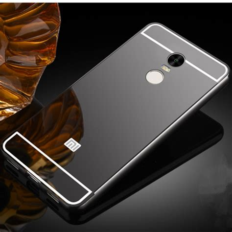 2in1 Mirror Xiaomi Redmi Note 3 Iring Silver luxury metal frame mirror back cover skin bumper for xiaomi redmi note 4 alex nld