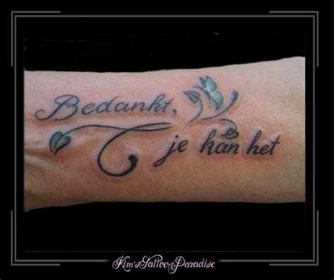 tattoo infinity veer vlinder kim s tattoo paradise