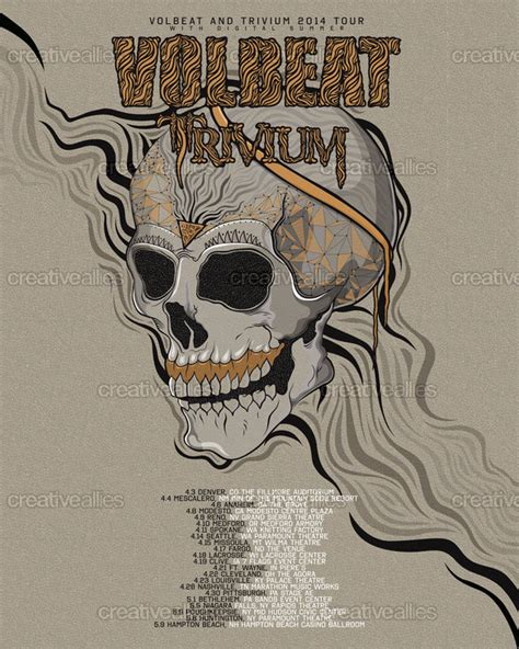 design poster k3 volbeat and trivium poster by muzykografika