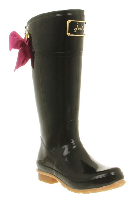 ebay joules womens joules evedon welly black rubber boots ebay