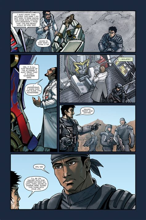 writing comics film style webcomic alliance five page preview of transformers revenge of the fallen
