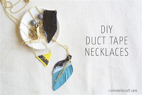 how to make duct jewelry diy 3 duct necklaces tutorial