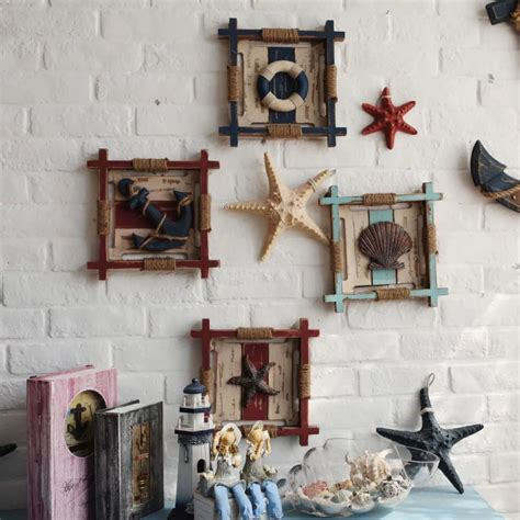 home decoration sale 3d mediterranean wood anchor wall hangings home nautical