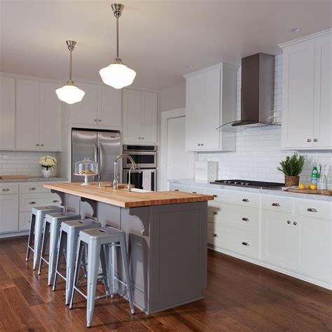 white kitchen island with butcher block top best 25 gray island ideas on kitchen island