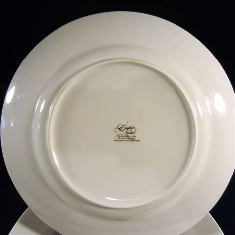 New Plates Are by Ciroa Empire White New Bone China Rimmed Dinner