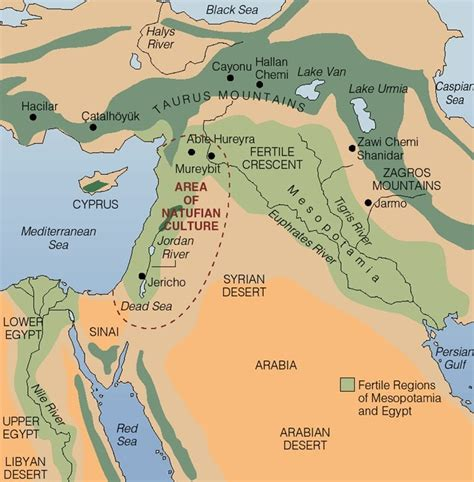 fertile crescent map neolithic founder crops world crops database
