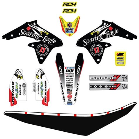 Rch Suzuki Graphics Rch Graphics Kit Rm Z250 Cheap Cycle Parts