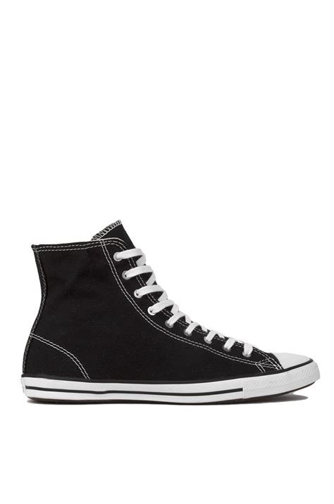 all black high top sneakers lyst converse chuck all fancy hi top