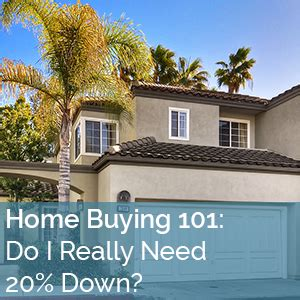 do i need 20 down to buy a house home buying 101 do i really need 20 down