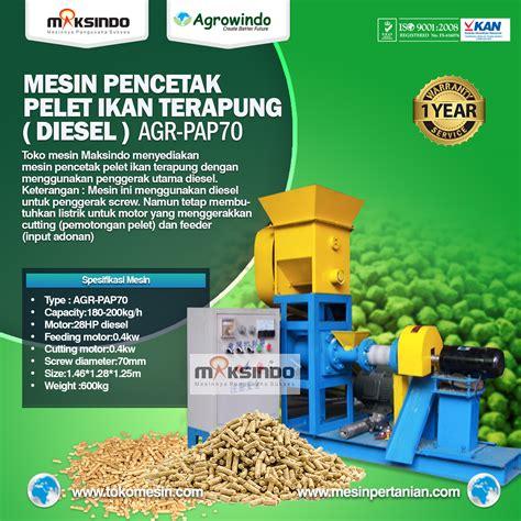 Mesin Pakan Ikan Surabaya jual mesin pencetak pelet ikan terapung diesel di